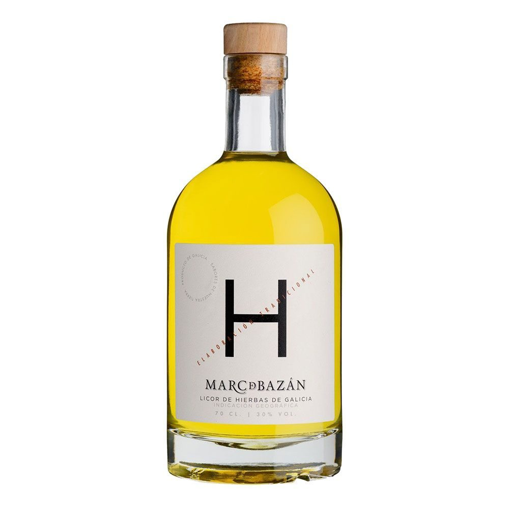 Botella de Orujo de Hierbas Marc de Bazán