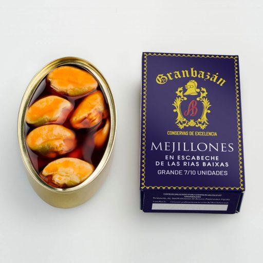 Mejillones en escabeche grandes