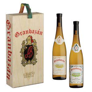 Pack de vino etiqueta verde y etiqueta ambar