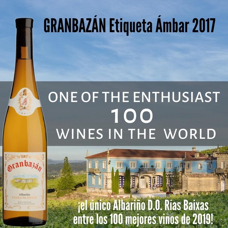 Granbazán Etiqueta Ámbar el único vino blanco de España en The Enthusiast 2019