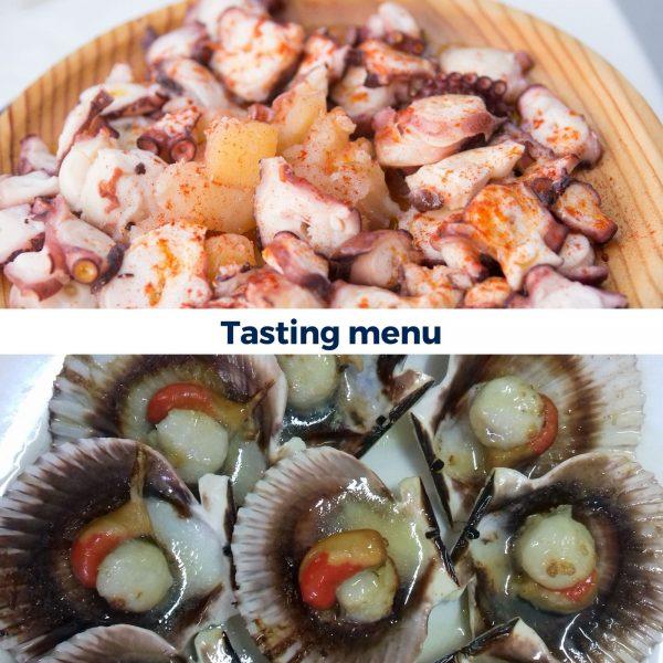 Experiences in Granbazan. Tasting menu