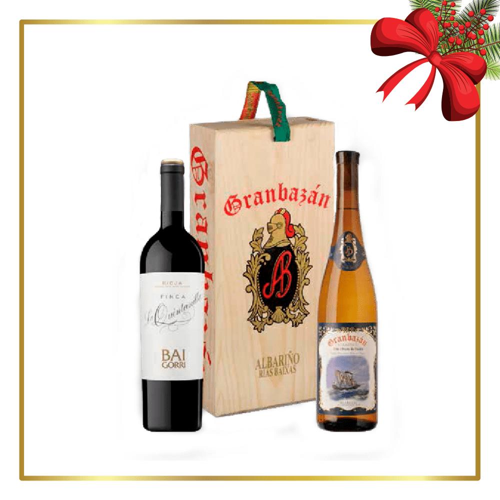 Estuche fusion de vinos Granbazán y Baigorri