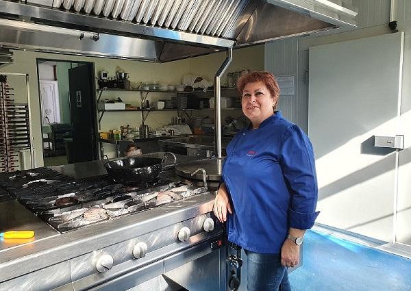 Sefita Monteagudo chef in Bodegas Granbazán