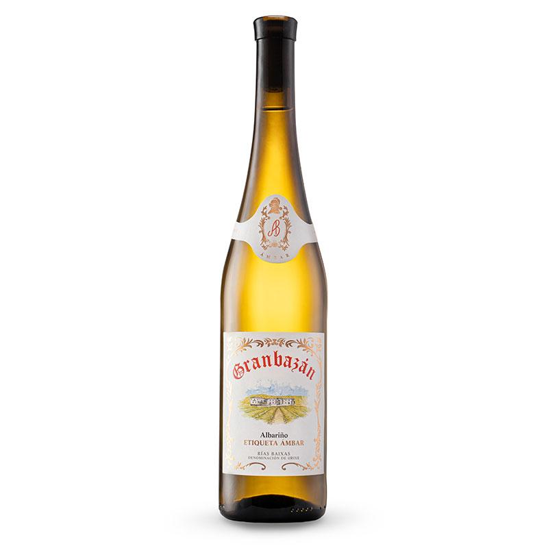 Botella de Granbazán Etiqueta Ámbar